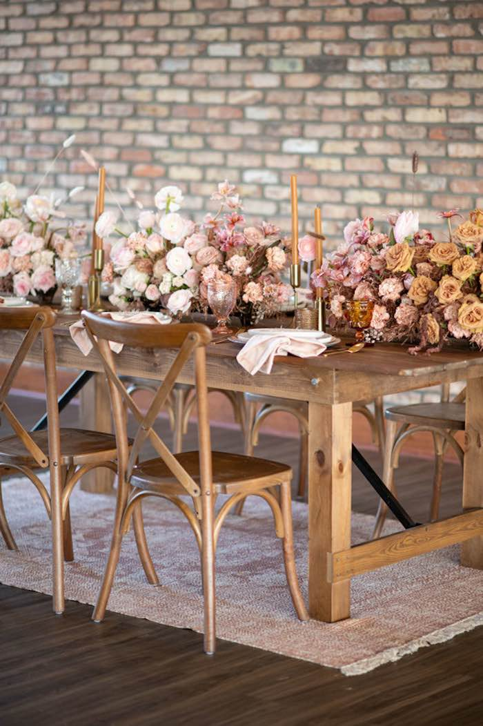 Rustically Elegant Guest Table from a Rustic Floral Teddy Bear Baby Shower on Kara's Party Ideas | KarasPartyIdeas.com (32)