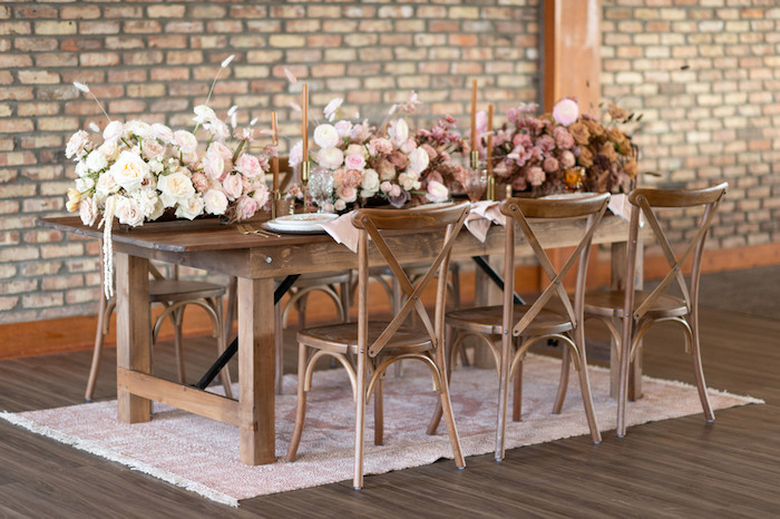 Rustically Elegant Guest Table from a Rustic Floral Teddy Bear Baby Shower on Kara's Party Ideas | KarasPartyIdeas.com (24)