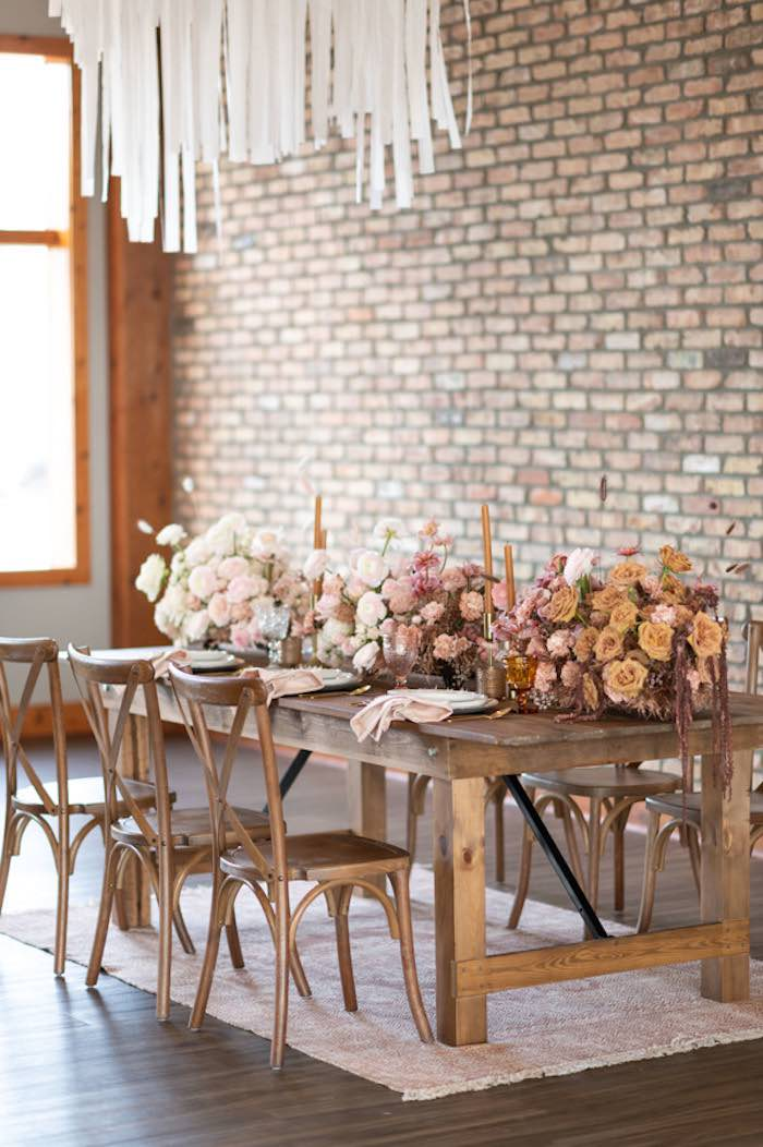 Rustically Elegant Guest Table from a Rustic Floral Teddy Bear Baby Shower on Kara's Party Ideas | KarasPartyIdeas.com (23)
