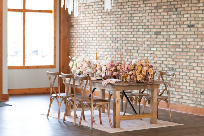Rustically Elegant Guest Table from a Rustic Floral Teddy Bear Baby Shower on Kara's Party Ideas | KarasPartyIdeas.com (22)