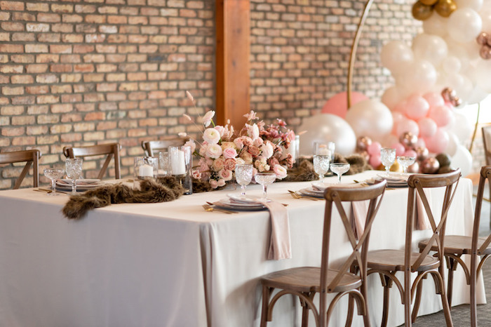 Rustically Elegant Guest Table from a Rustic Floral Teddy Bear Baby Shower on Kara's Party Ideas | KarasPartyIdeas.com (17)