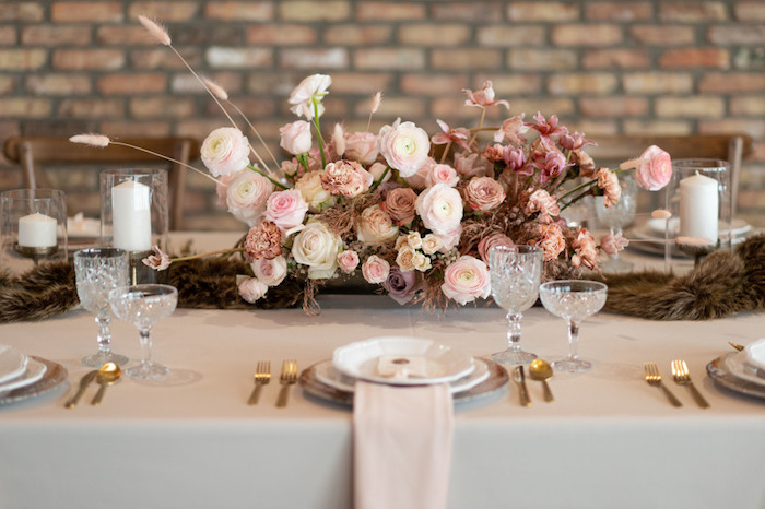 Rustically Elegant Guest Table from a Rustic Floral Teddy Bear Baby Shower on Kara's Party Ideas | KarasPartyIdeas.com (16)