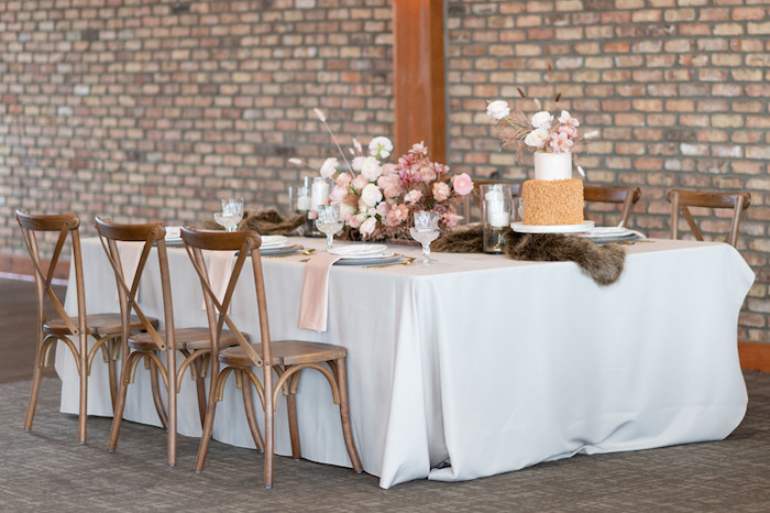 Rustically Elegant Guest Table from a Rustic Floral Teddy Bear Baby Shower on Kara's Party Ideas | KarasPartyIdeas.com (14)