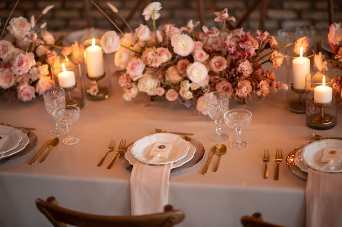 Intimate Guest Table from a Rustic Floral Teddy Bear Baby Shower on Kara's Party Ideas | KarasPartyIdeas.com (5)