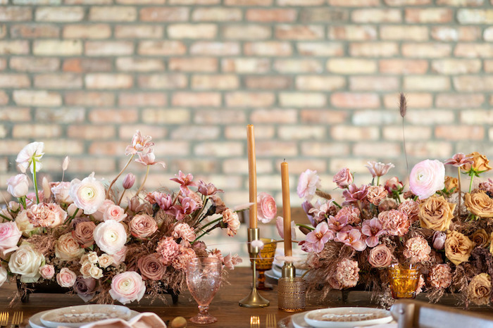 Rustic Guest Table from a Rustic Floral Teddy Bear Baby Shower on Kara's Party Ideas | KarasPartyIdeas.com (41)