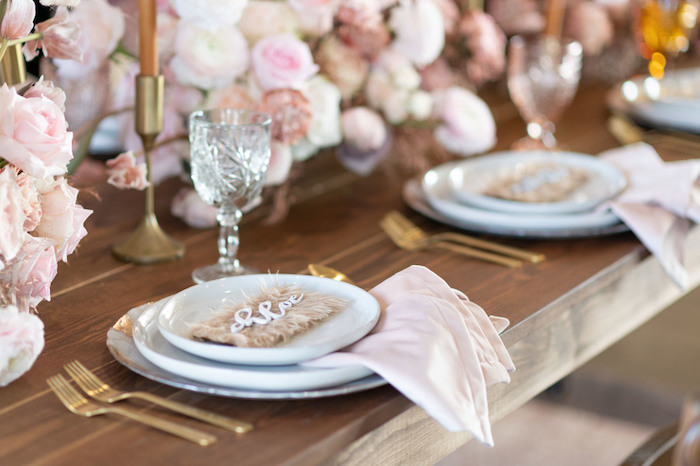 Guest Tablescape from a Rustic Floral Teddy Bear Baby Shower on Kara's Party Ideas | KarasPartyIdeas.com (40)