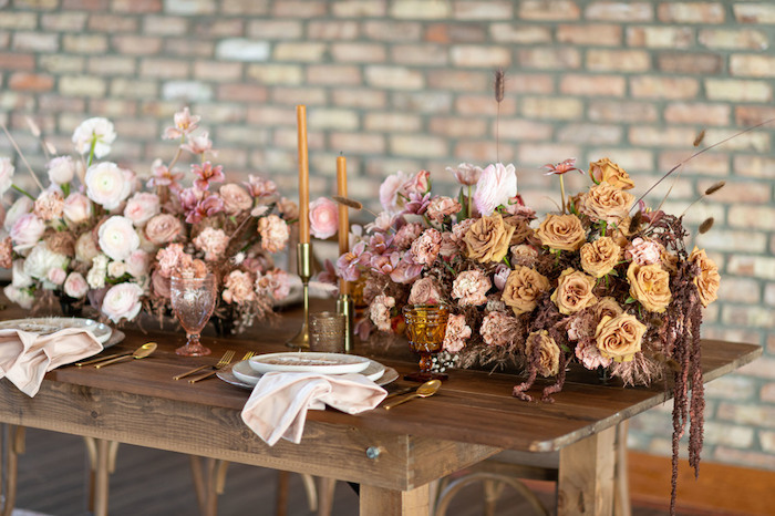 Guest Tablescape from a Rustic Floral Teddy Bear Baby Shower on Kara's Party Ideas | KarasPartyIdeas.com (39)
