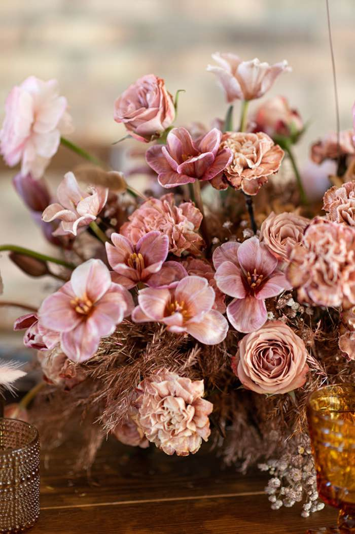 Blooms from a Rustic Floral Teddy Bear Baby Shower on Kara's Party Ideas | KarasPartyIdeas.com (37)