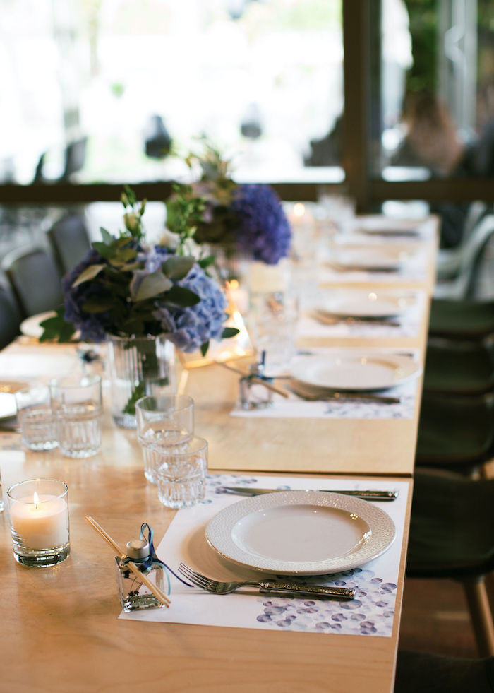 Guest Table Setting + Tablescape from a Sweet Blue Christening Party on Kara's Party Ideas | KarasPartyIdeas.com (28)