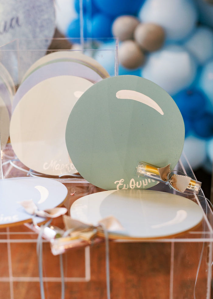 Custom Balloon-inspired Signage from a Sweet Blue Christening Party on Kara's Party Ideas | KarasPartyIdeas.com (17)