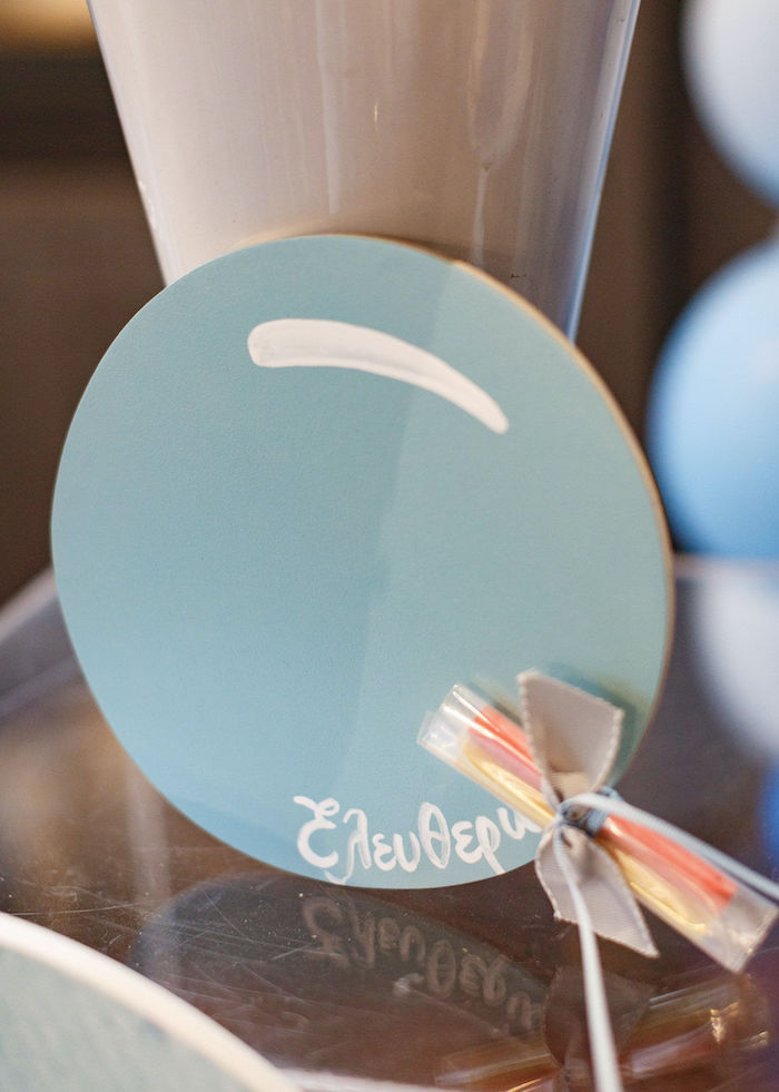 Custom Balloon-inspired Signage from a Sweet Blue Christening Party on Kara's Party Ideas | KarasPartyIdeas.com (16)
