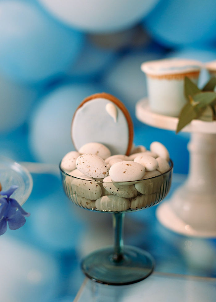 Candy Cup + Balloon Cookie from a Sweet Blue Christening Party on Kara's Party Ideas | KarasPartyIdeas.com (11)