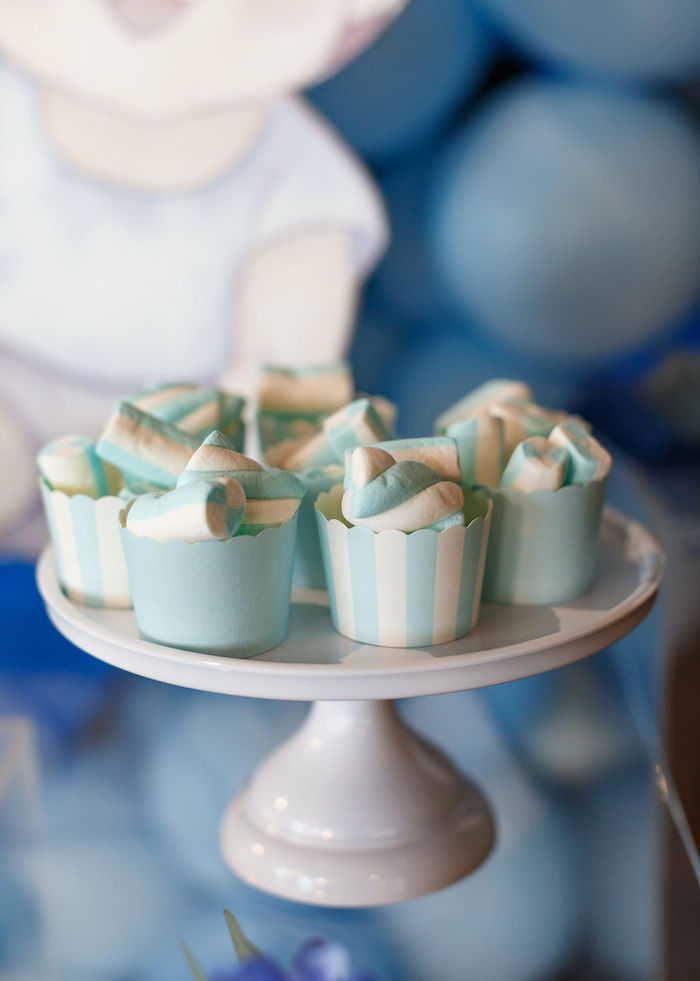 Marshmallow Pole Cups from a Sweet Blue Christening Party on Kara's Party Ideas | KarasPartyIdeas.com (9)