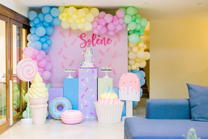 Sweets Themed Dessert Spread from a Sweets & Unicorns Birthday Party on Kara's Party Ideas | KarasPartyIdeas.com (12)