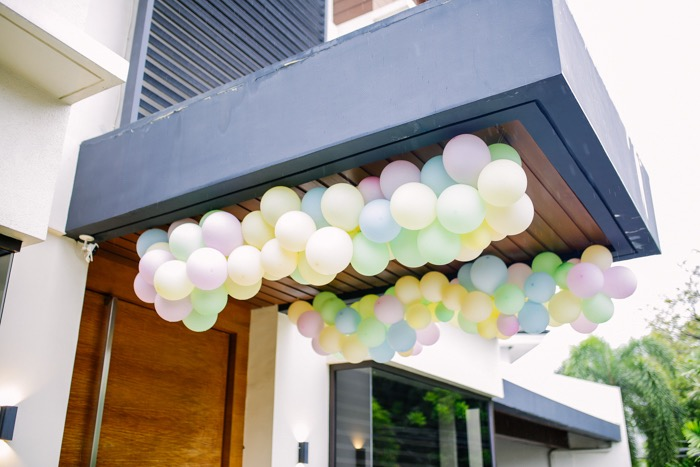 Balloon Garlands from a Sweets & Unicorns Birthday Party on Kara's Party Ideas | KarasPartyIdeas.com (23)