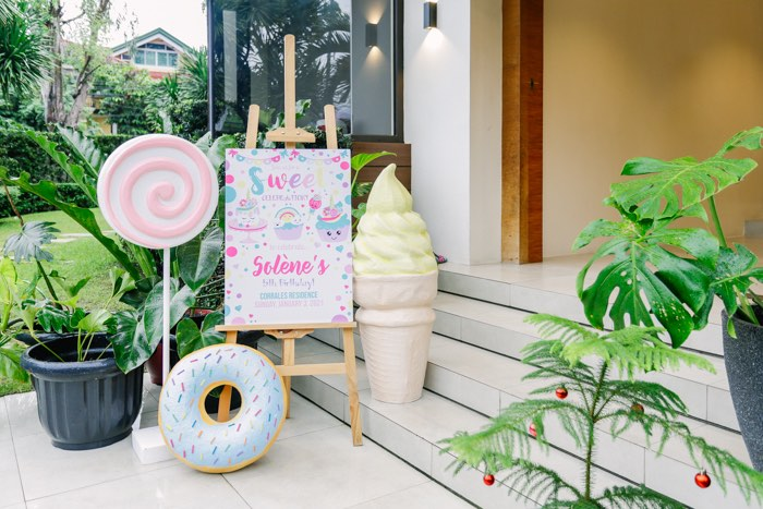 Welcome Sign + Sweet Props from a Sweets & Unicorns Birthday Party on Kara's Party Ideas | KarasPartyIdeas.com (21)