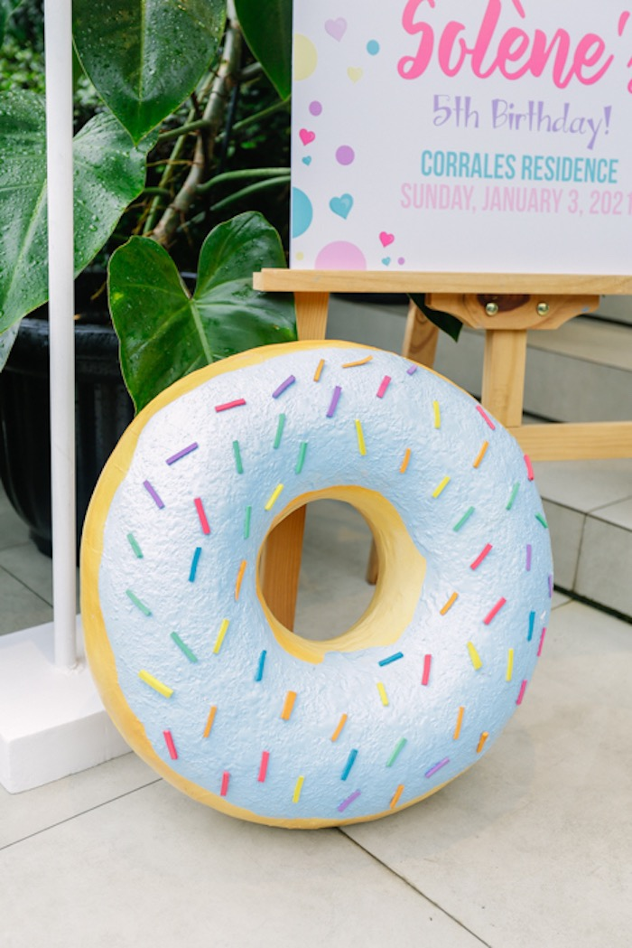 Sprinkled Donut Prop from a Sweets & Unicorns Birthday Party on Kara's Party Ideas | KarasPartyIdeas.com (19)
