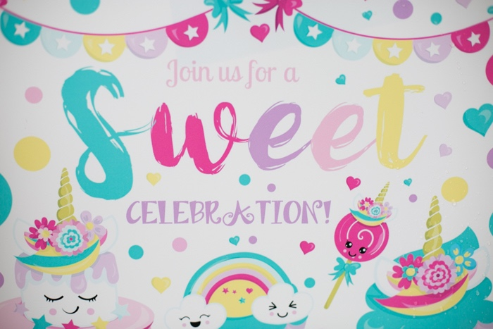 Sweets Themed Party Invite from a Sweets & Unicorns Birthday Party on Kara's Party Ideas | KarasPartyIdeas.com (15)
