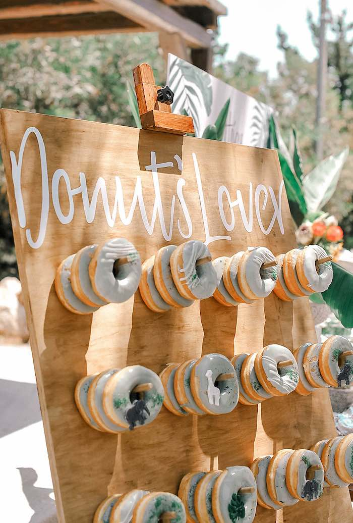Donut Board from a Tropical Baptism Party in Rhodes on Kara's Party Ideas | KarasPartyIdeas.com (33)