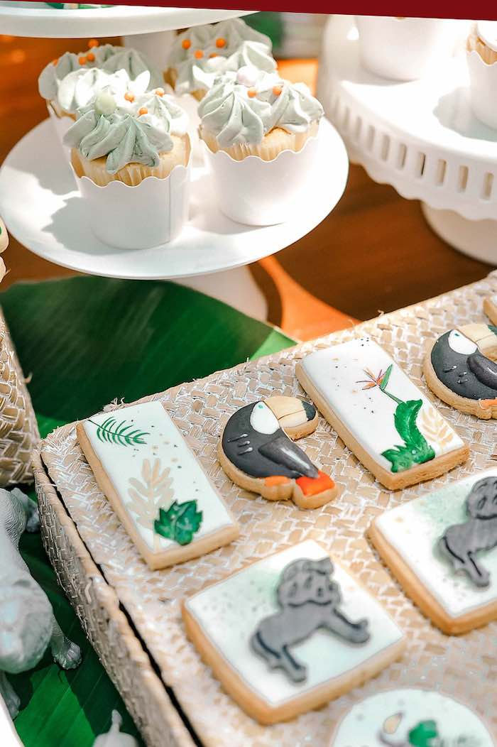 Tropical + Toucan Cookies from a Tropical Baptism Party in Rhodes on Kara's Party Ideas | KarasPartyIdeas.com (28)