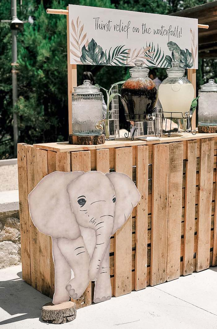 Tropical Beverage Station from a Tropical Baptism Party in Rhodes on Kara's Party Ideas | KarasPartyIdeas.com (27)