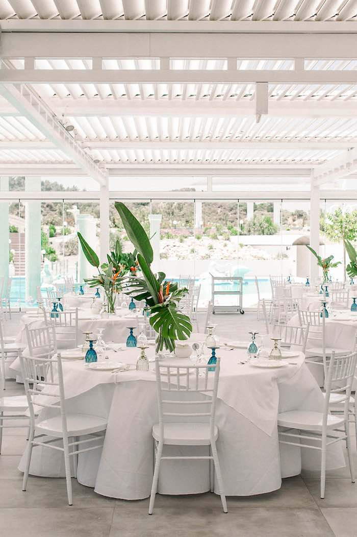 Tropical Themed Guest Tables from a Tropical Baptism Party in Rhodes on Kara's Party Ideas | KarasPartyIdeas.com (23)