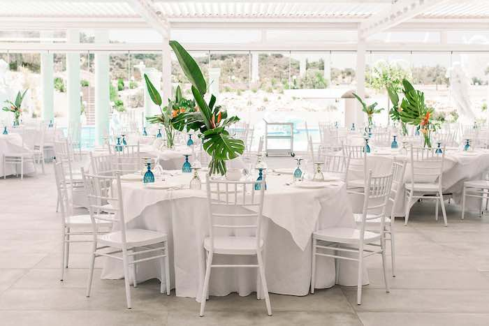 Tropical Themed Guest Tables from a Tropical Baptism Party in Rhodes on Kara's Party Ideas | KarasPartyIdeas.com (22)