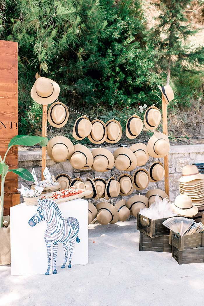 Tropical Favor Station from a Tropical Baptism Party in Rhodes on Kara's Party Ideas | KarasPartyIdeas.com (14)