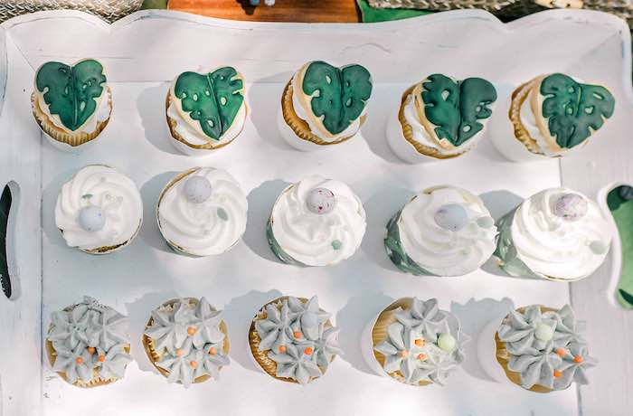 Tropical Cupcakes from a Tropical Baptism Party in Rhodes on Kara's Party Ideas | KarasPartyIdeas.com (11)
