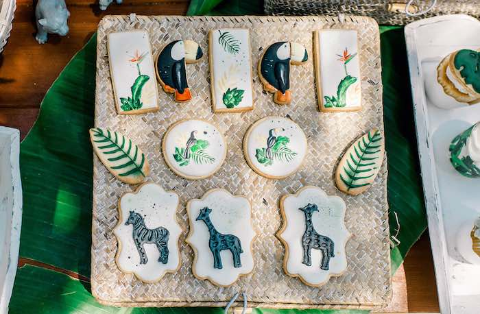 Tropical Animal Cookies from a Tropical Baptism Party in Rhodes on Kara's Party Ideas | KarasPartyIdeas.com (10)