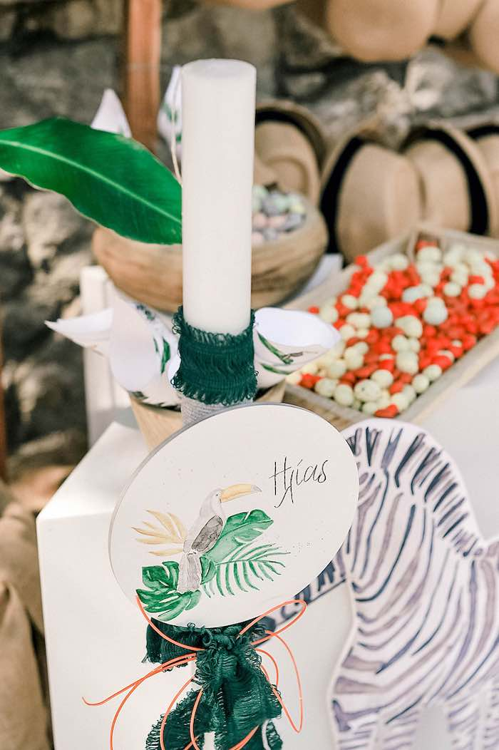 Tropical Baptism Party in Rhodes on Kara's Party Ideas | KarasPartyIdeas.com (39)