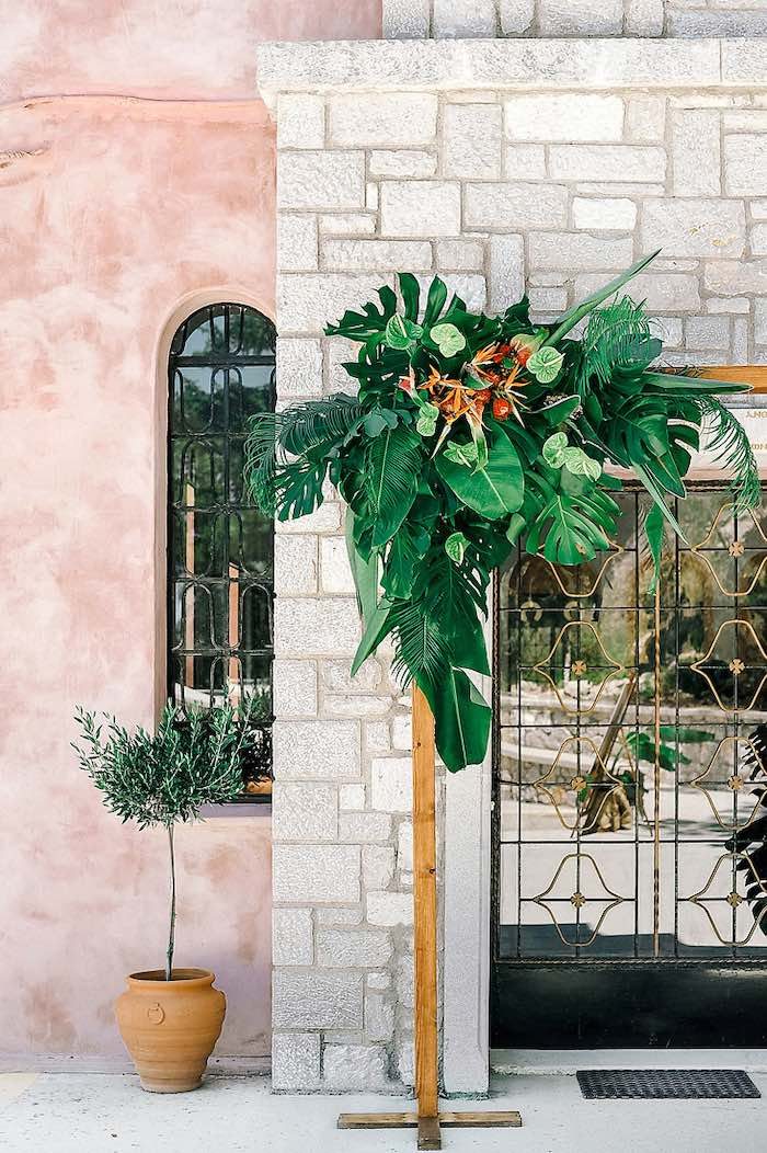 Tropical Blooms from a Tropical Baptism Party in Rhodes on Kara's Party Ideas | KarasPartyIdeas.com (35)