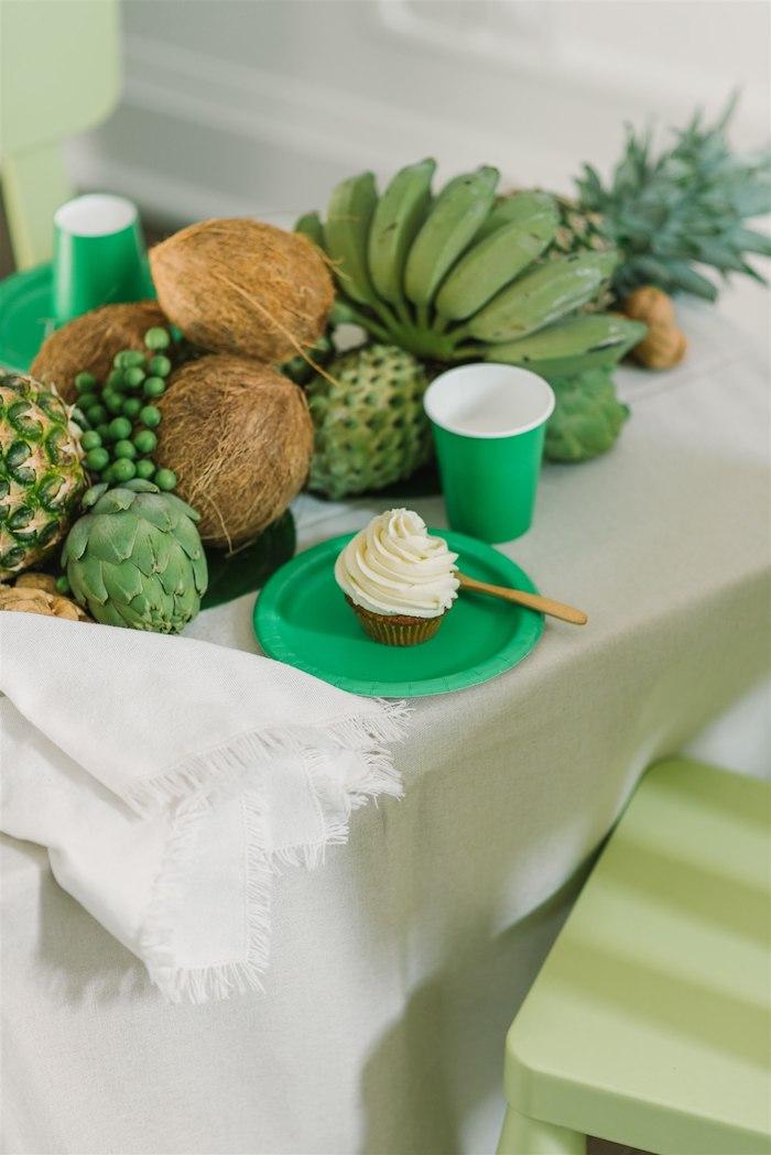 Tropical Green Table Setting from a Tropical Tiki Birthday Party on Kara's Party Ideas | KarasPartyIdeas.com (17)