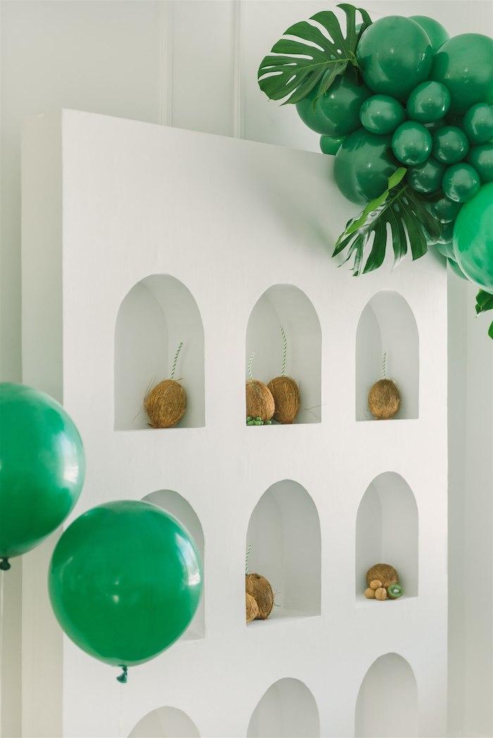 Coconut Drink Wall from a Tropical Tiki Birthday Party on Kara's Party Ideas | KarasPartyIdeas.com (14)