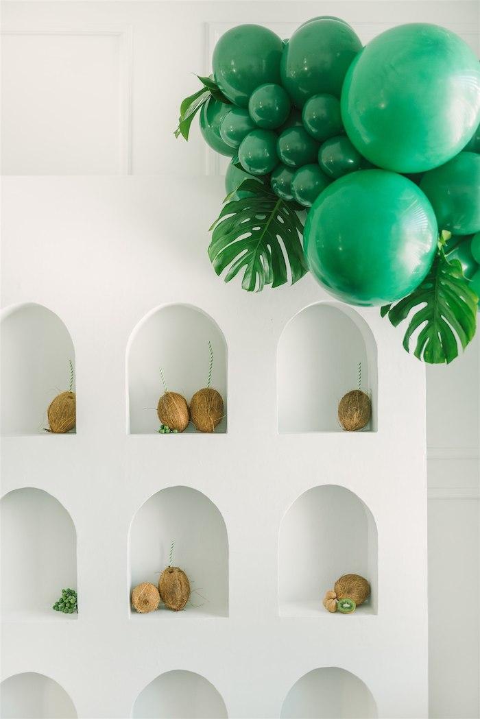 Coconut Drink Wall from a Tropical Tiki Birthday Party on Kara's Party Ideas | KarasPartyIdeas.com (13)