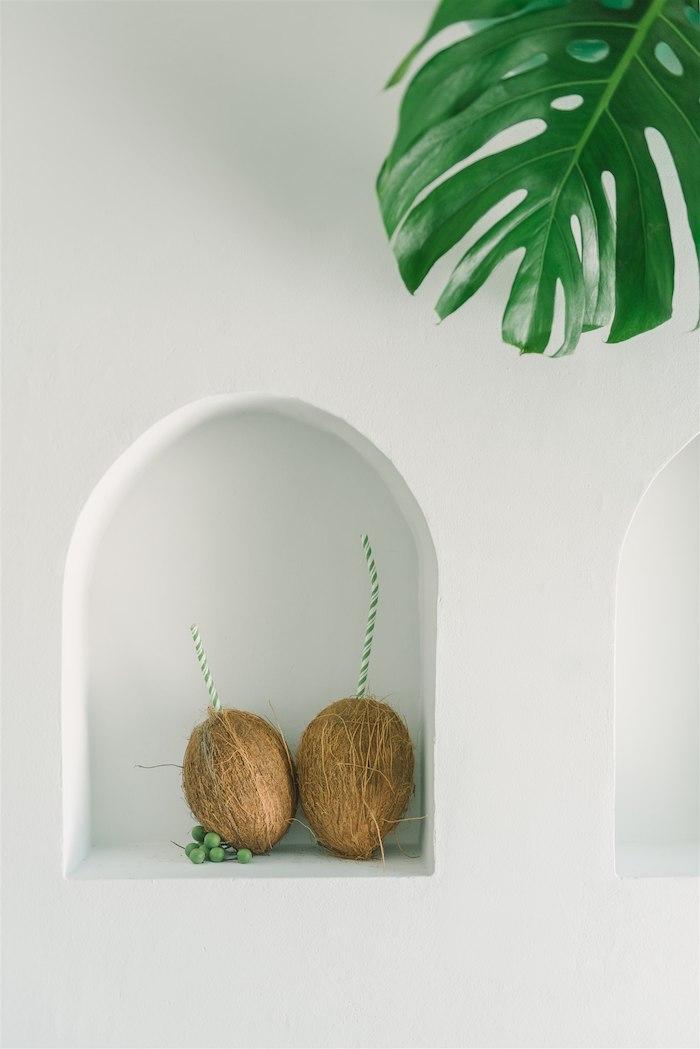 Coconut Drinks from a Tropical Tiki Birthday Party on Kara's Party Ideas | KarasPartyIdeas.com (12)