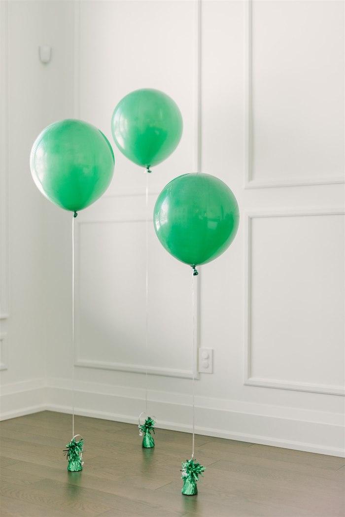Green Jumbo Balloons from a Tropical Tiki Birthday Party on Kara's Party Ideas | KarasPartyIdeas.com (11)