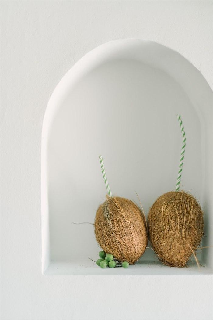 Coconut Drinks from a Tropical Tiki Birthday Party on Kara's Party Ideas | KarasPartyIdeas.com (10)