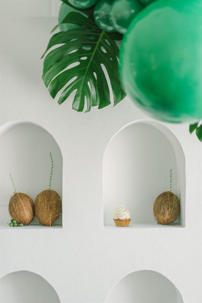 Coconut Drink Wall from a Tropical Tiki Birthday Party on Kara's Party Ideas | KarasPartyIdeas.com (9)