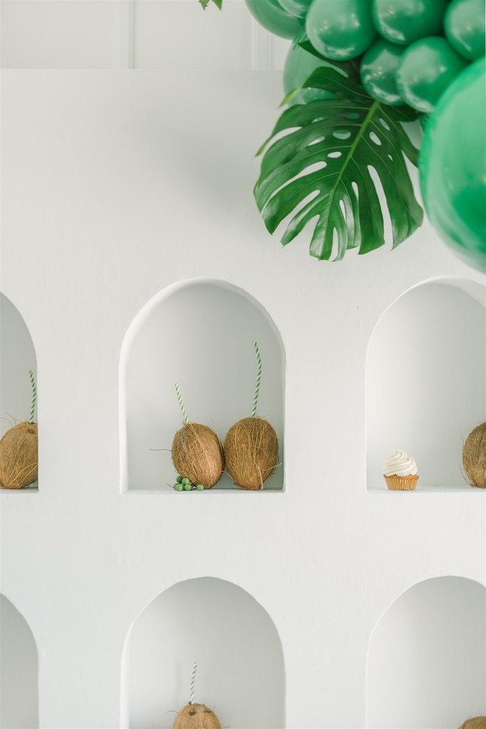 Coconut Drink Wall from a Tropical Tiki Birthday Party on Kara's Party Ideas | KarasPartyIdeas.com (8)