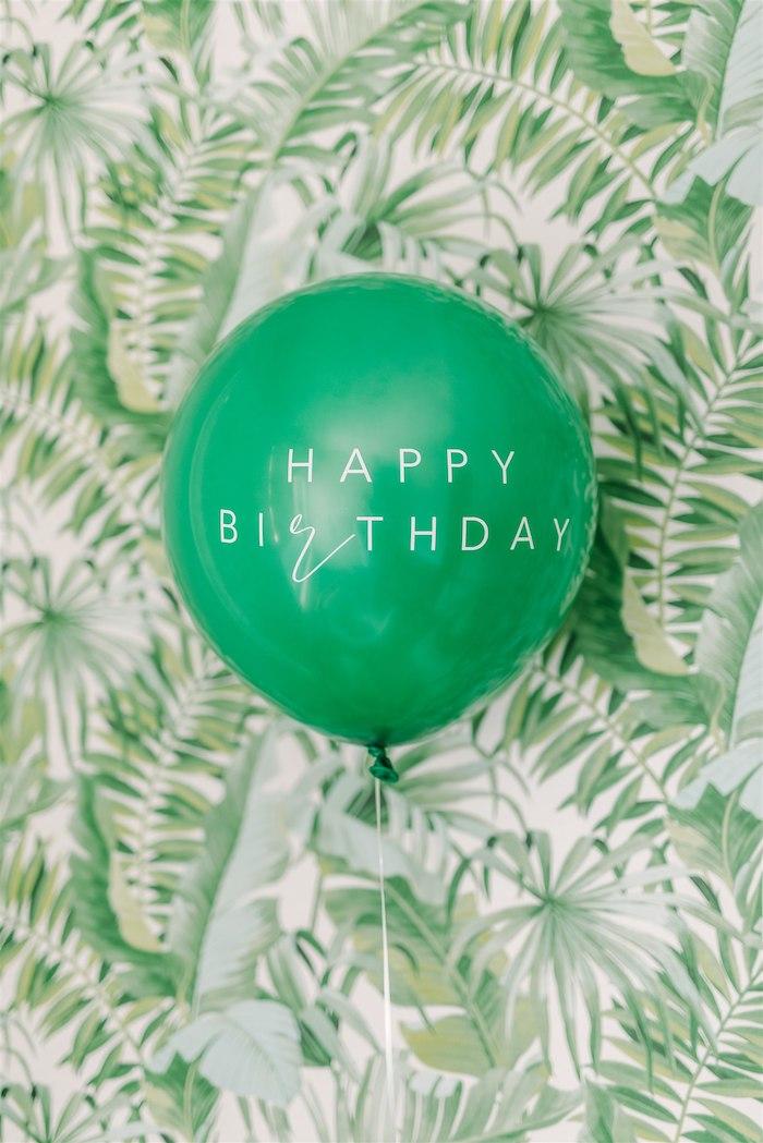 Happy Birthday Jumbo Balloon from a Tropical Tiki Birthday Party on Kara's Party Ideas | KarasPartyIdeas.com (21)