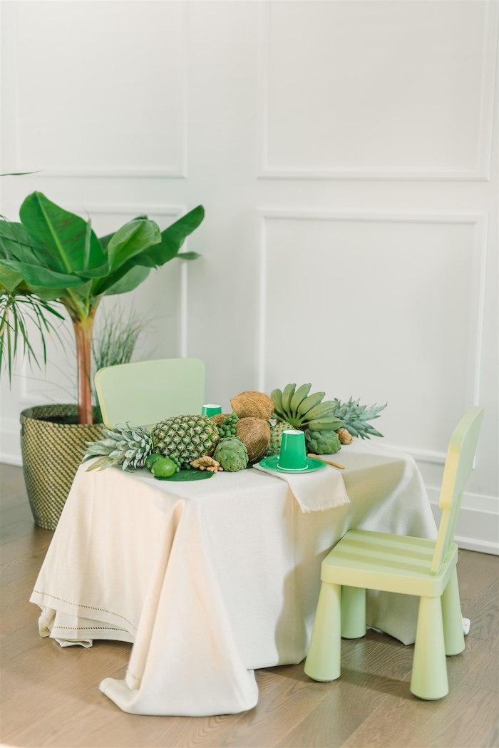 Tropical Guest Table from a Tropical Tiki Birthday Party on Kara's Party Ideas | KarasPartyIdeas.com (20)