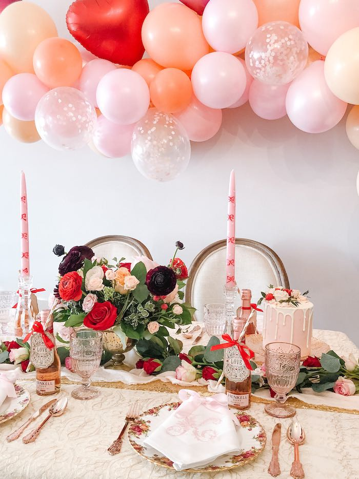 Valentine's Day Dining Table from a Vintage Valentine's Day Dinner Party on Kara's Party Ideas | KarasPartyIdeas.com (15)