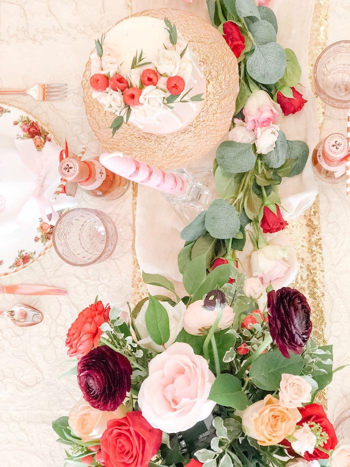 Valentine Tabletop from a Vintage Valentine's Day Dinner Party on Kara's Party Ideas | KarasPartyIdeas.com (11)