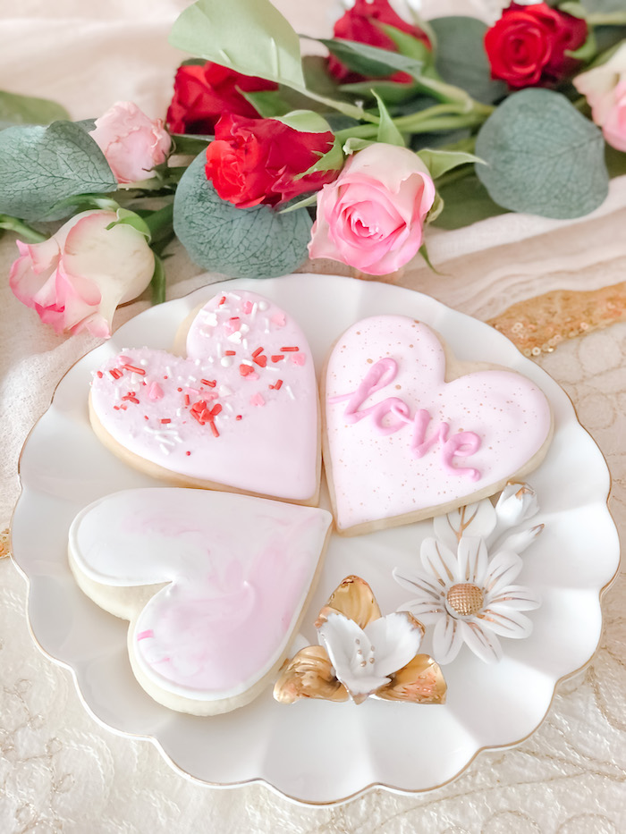 Valentine's Day Cookies from a Vintage Valentine's Day Dinner Party on Kara's Party Ideas | KarasPartyIdeas.com (7)