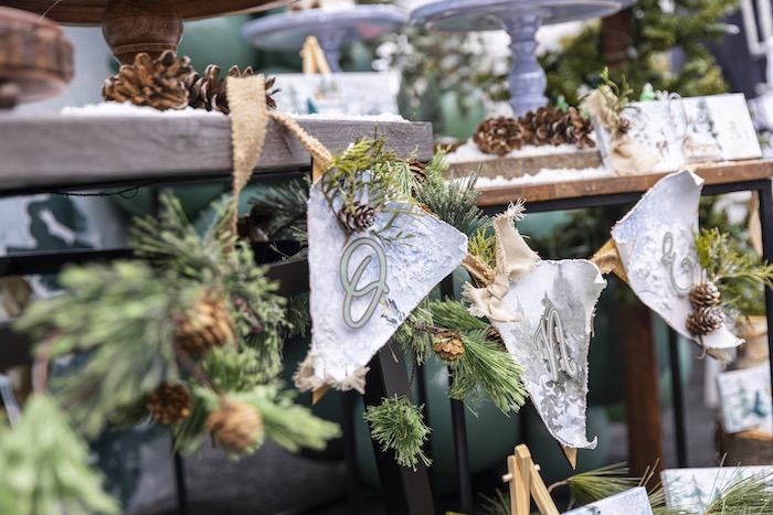 Pinecone Winter ONEderland Pennant Banner from a Winter ONEderland Birthday Party on Kara's Party Ideas | KarasPartyIdeas.com (9)