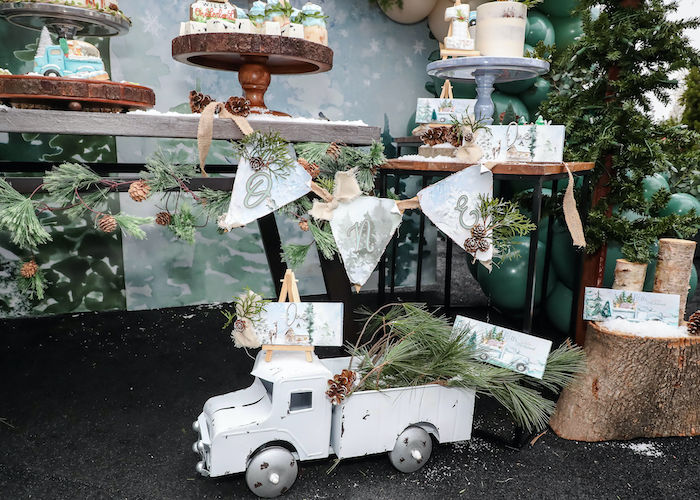 Vintage Truck Decor Prop from a Winter ONEderland Birthday Party on Kara's Party Ideas | KarasPartyIdeas.com (8)