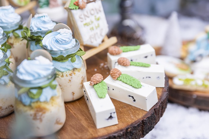 Winter Woodland Dessert Bars from a Winter ONEderland Birthday Party on Kara's Party Ideas | KarasPartyIdeas.com (23)