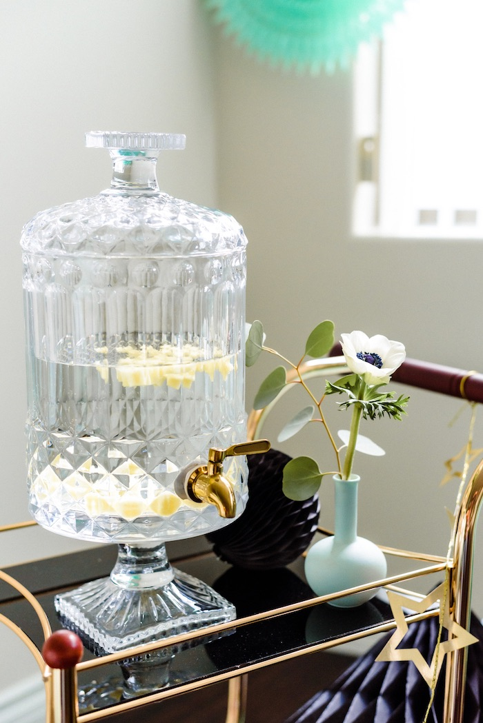"Crystal Beverage Dispenser from a ""Little Legends, Exceptional Men in Black History"" Birthday Party on Kara's Party Ideas 