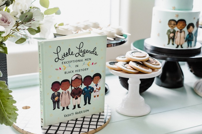"Little Legends Book + Dessert Table from a ""Little Legends, Exceptional Men in Black History"" Birthday Party on Kara's Party Ideas 